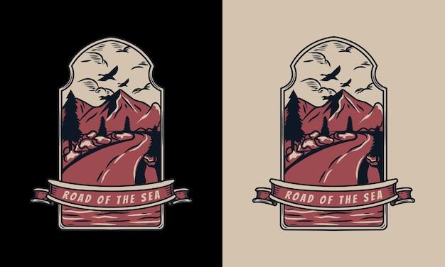 De weg naar het zee-logo