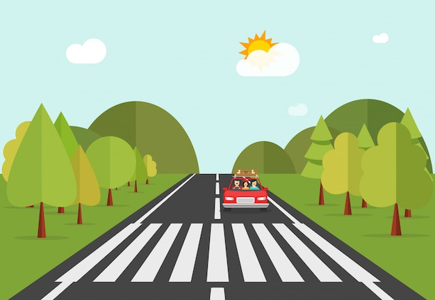 De weg van het zebrapadweg met automobiele auto
