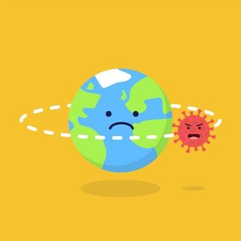 De wereld wordt achtervolgd door pandemie van het coronavirus