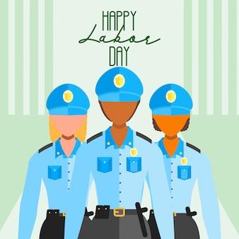 De werkdag van gelukkige werknemer