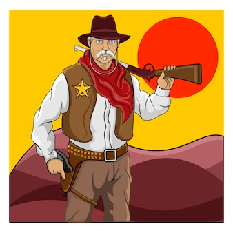 De wildwest sheriff