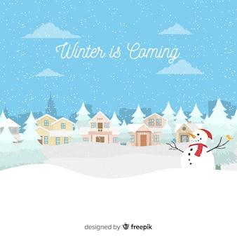 De winter komt eraan