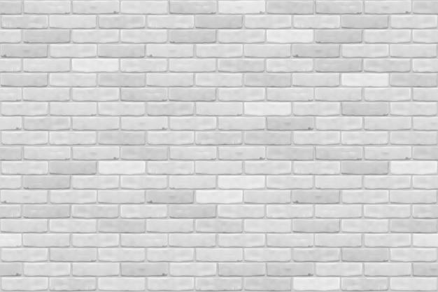 De witte achtergrond van de bakstenen muurtextuur voor behang, grafisch web, spel. realistisch naadloos patroon.