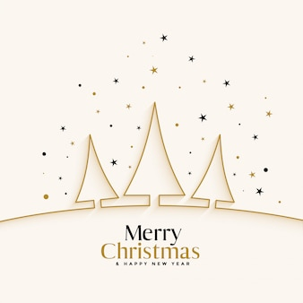 De witte achtergrond van het kerstmisfestival met lijnboom