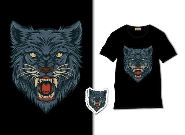 De wolf hoofd illustratie