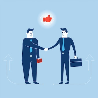 De zakenmanactie van illustraties aan werkende bedrijfsactiviteit.