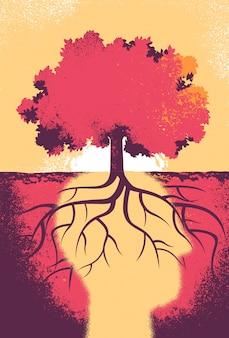 De ziel van de boom denkt tot een betere toekomst