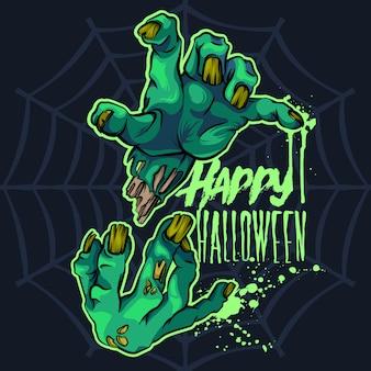 De zombie overhandigt halloween