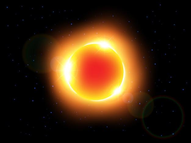 De zon en lens flare