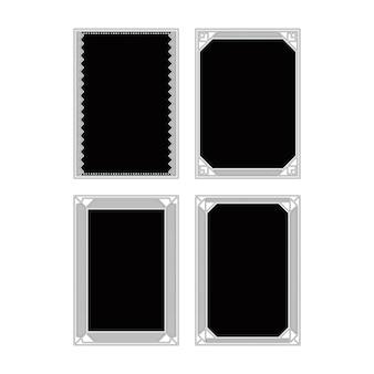De zwart-witte collecties van het frame ontwerp