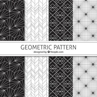 De zwart-witte geometrische patronen