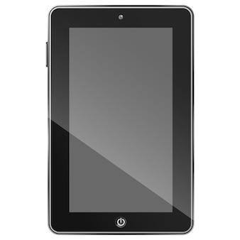 De zwarte vectorillustratie van tabletpc eps10