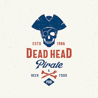 Dead head pirate beer and food pub.