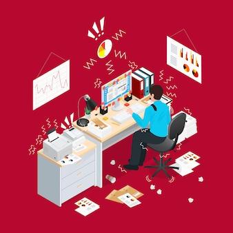 Deadline office isometrische samenstelling