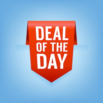 Deal of the day lint verkoop tag.