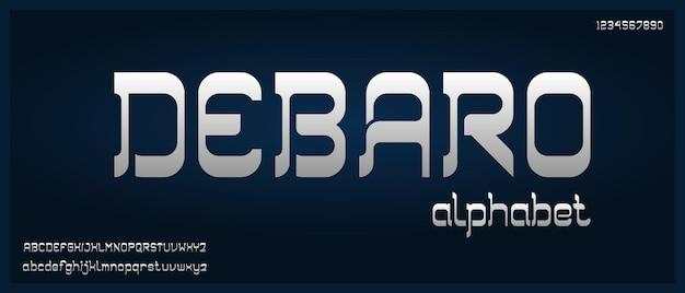 Debaro, modern elegant alfabetlettertype met stedelijke stijlsjabloon