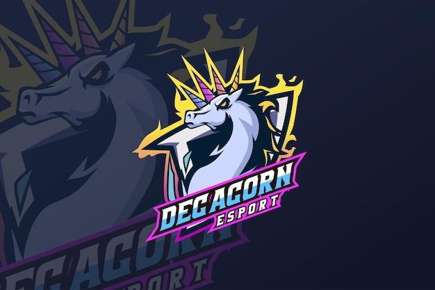 Decacorn - esport-logo sjabloon