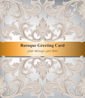 Decor van het de uitnodiging het hand gemaakte ornament van het damast. barokke fonkelende achtergrondtexturen