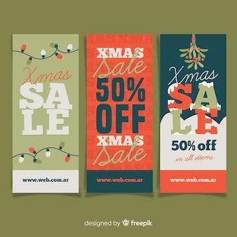 Decoratie kerst verkoop banner pack
