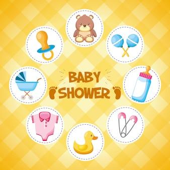 Decoratie voor baby shower