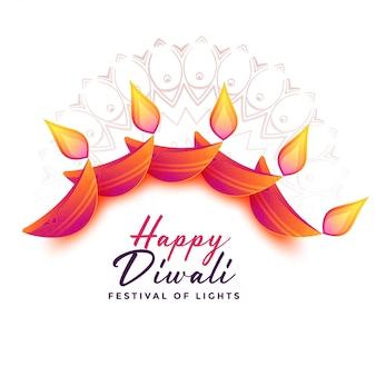 Decoratieachtergrond voor diwalifestival