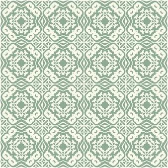 Decoratief bloemen naadloos patroon traditioneel ontwerp