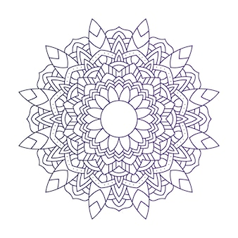 Decoratief bloemen paars mandala etniciteit illustratie ontwerp