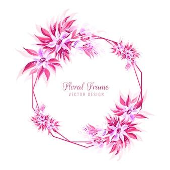 Decoratief bloemenframe op witte achtergrond