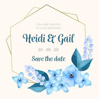 Decoratief bruiloft bloemenframe