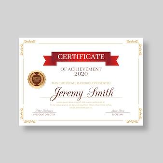 Decoratief elegant certificaat