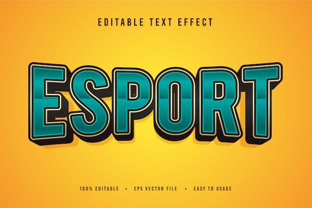 Decoratief esport-lettertype