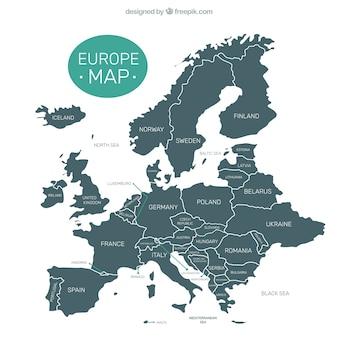 Decoratief europa kaart
