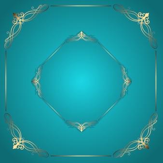 Decoratief frame achtergrond