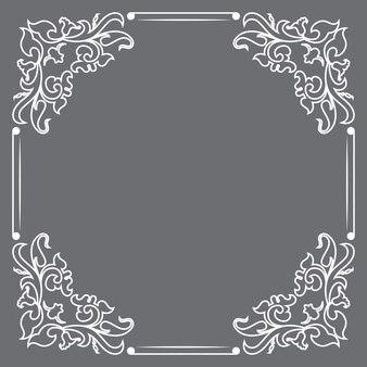 Decoratief frame in vintage stijl.