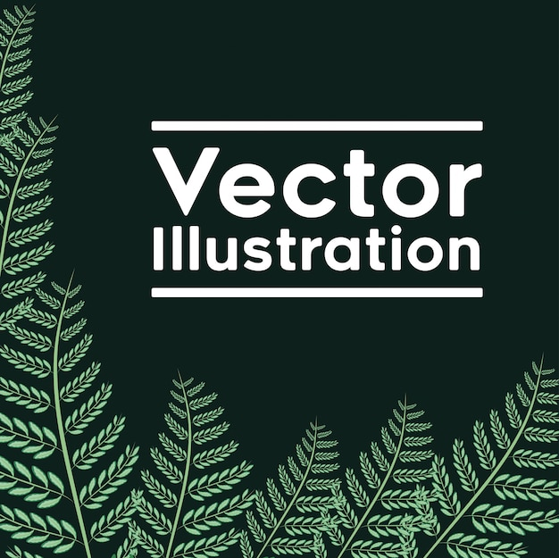 Decoratief frame met bladeren planten patroon