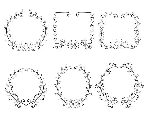 Decoratief frame met bloemenornament.