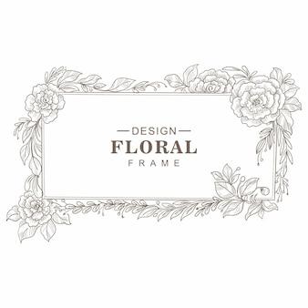 Decoratief frame met handgetekende compositiekaartontwerp