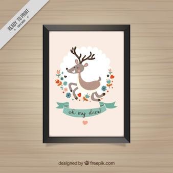 Decoratief frame van mooie herten
