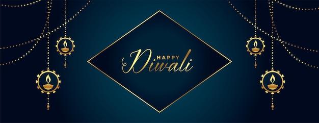 Decoratief gelukkig diwali-festivalontwerp als achtergrond