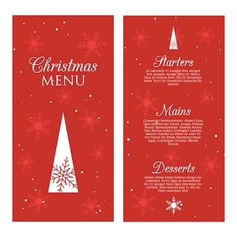 Decoratief kerstmenu