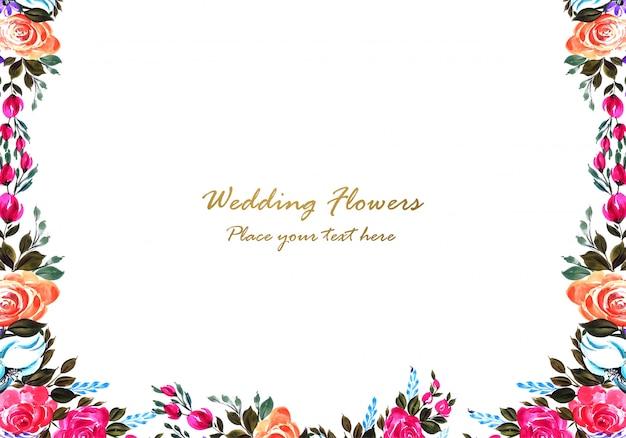 Decoratief kleurrijk bloemenframe ontwerp