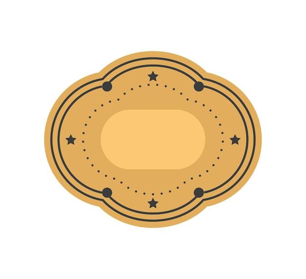Decoratief label leeg