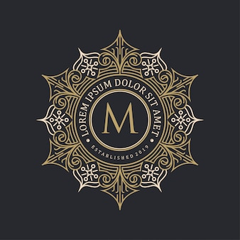 Decoratief logo-ontwerp