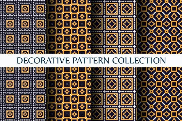 Decoratief luxepatroon dat met abstracte stijl wordt geplaatst