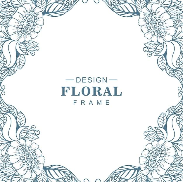 Decoratief mandala circulair bloemenframe
