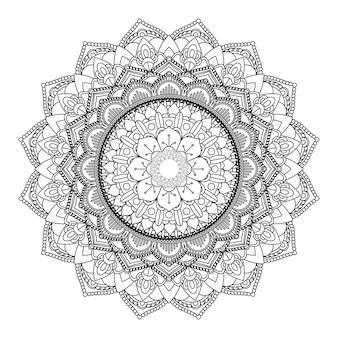 Decoratief mandala ontwerp