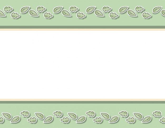 Decoratief naadloos bloemenpatroon met bladeren en takken. cartoon hand getrokken textuur achtergrond