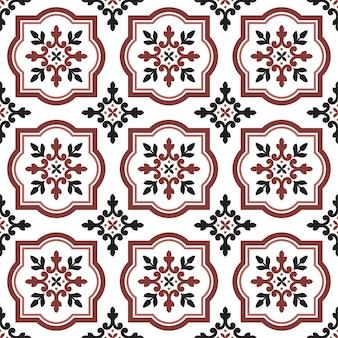 Decoratief naadloos tegelpatroon