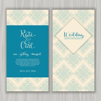 Decoratief ontwerp ideaal voor een bruiloft uitnodiging