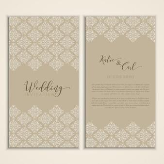 Decoratief ontwerp voor een bruiloft uitnodiging